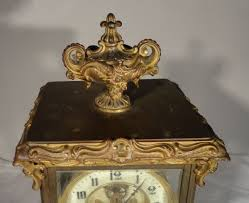 Crystal Mantel Clocks Antique Gilt Bronze Crystal Regulator Ansonia Mantel Clock Rococo