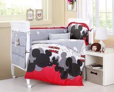 Mickey And Minnie Crib Bedding Disney Gray Mickey 4 Crib Bedding Set Unisex Crib Bedding