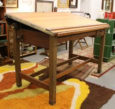 Wood Drafting Table Vintage Wood Drafting Table Montserrat Home Design Going To