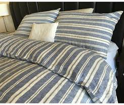nautical stripe navy duvet cover with striped pillow cover