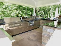 kitchen best design of outdoor kitchen patio with garden view