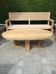 Teak Outdoor Furniture Atlanta by Cool Design Ideas Of Outdoor Teak Furniture With Oval Shape Wooden