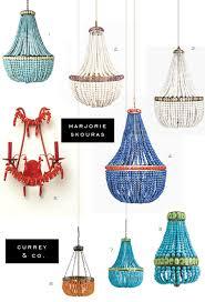 Beaded Turquoise Chandelier Marjorie Skouras For Currey And Company Lighting Fixtures