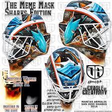 San Jose Sharks Meme - the meme mask sharks edition mantas armalis san jose sharks