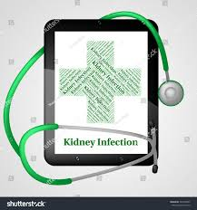 kidney infection kidney infection representing ill health indisposition stock