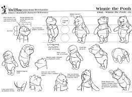 winnie pooh u2013 model sheets traditional animation