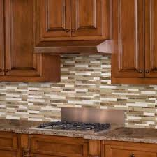Brown Tile Backsplash by Inoxia Speedtiles Bengal 11 75 In X 11 6 In Stone Adhesive Wall