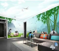 3d panda paradise bamboo entire room wallpaper wall murals art 3d panda paradise bamboo entire room wallpaper wall murals art idcqw 000140