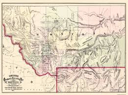 Old United States Map by Old State Map Montana Territory Cram 1875