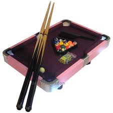 laura mini purple and pink pool table game with leatherette case