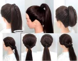 easy hairstyles for medium length hair step by step easy hairstyles 6 ponytail hairstyles for girls long hair youtube