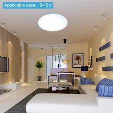 bright 12w led ceiling light round mount fixture bedroom kitchen