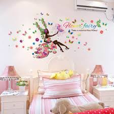 popular beautiful fairy wallpapers buy cheap beautiful fairy 1 pc romantic flower fairy girl butterfly wall stickers beautiful swing for kids rooms decal