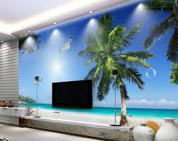 compare prices on beach wall mural online shopping buy low price modern background wallpapers custom 3d wall mural white clouds beach coconut sea view wallpaper scenery for