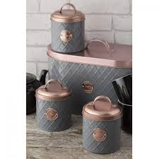 typhoon living copper lid tea coffee u0026 sugar canisters u0026 bread