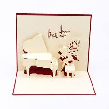 aliexpress com buy piano happy birthday 3d pop up paper laser