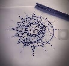 beautiful mandala sun with simple moon stencil golfian com
