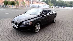 volvo convertible volvo c70 2 0d se lux in ember black youtube