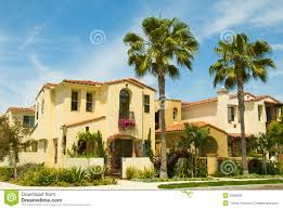Luxury Spanish Style Homes Spanish Style Houses In A Master Planned Community Royalty Free