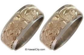 Ebay Wedding Rings by Hawaiian Jewelry Wedding Bands Engagement 2 Ring Set Ebay
