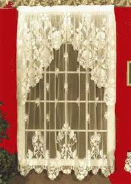 Shari Lace Curtains Hopewell Is A Classic Heavy Weight Jacquard Lace Balloon Shade