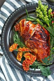 juicy thanksgiving turkey recipes easy maple glazed roasted turkey breast the seasoned mom