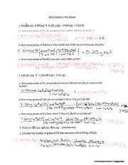 nsc 130 stoichiometry worksheet answers stoichiometry worksheet