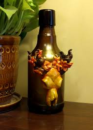 skullflower home decor bottle monologish sculptures