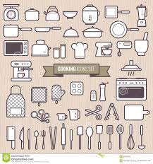 kitchen tools cooking icons stock vector image 43847777
