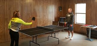 ping pong table playing area recreational room birch knoll motel