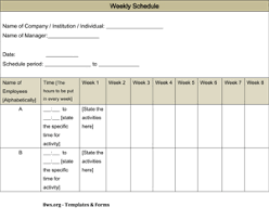 schedules 8ws org templates u0026 forms