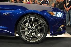 2015 mustang source impact blue car spotted page 3 the mustang source ford