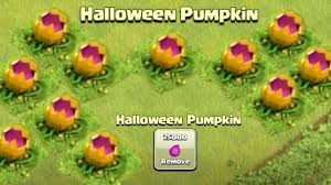 new halloween scary pumpkin obstacle clash of clans october