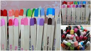 how to organize nail polishes using popsicle sticks youtube
