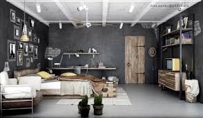 Look For Design Bedroom Industrial Bedrooms With Detail Interior Design Ideas