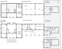 Italian Villa Floor Plans by The Landmark Trust