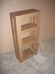 Easy To Assemble Bookshelves Easy Cardboard Shelves 3 Steps