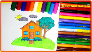 coloring house house coloring book for kids house coloring
