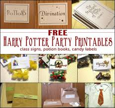download free harry potter party printables u2013 party ideas