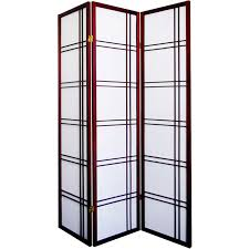Panel Shoji Screen Room Divider - cherry 3 panel shoji screen
