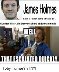 James Holmes Meme - james holmes from a minor traffic offence to gunman kills 12 in
