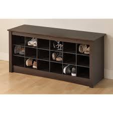 prepac winslow black shoe storage cubbie bench hayneedle
