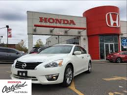 nissan altima coupe used toronto used 2014 nissan altima 2 5 sv black leather interior power roof