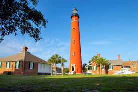 Florida Lighthouses Map by Ponce Inlet Lighthouse Ponce Inlet Fl 32127