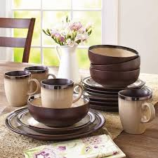 better homes and gardens 16 dinnerware set beige