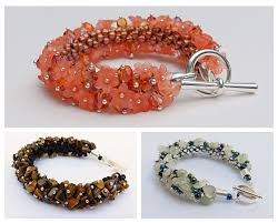 beaded bracelet with pearls images How to use gemstone chips in kumihimo designs jpg