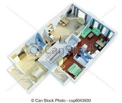 stock illustration of 3d floor plan 3d floor plan csp6043930
