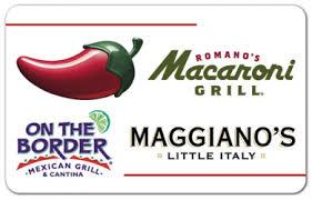 chili gift card maggiano s archives the shopper s apprentice