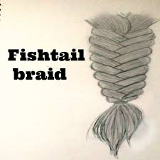 help me to draw fishtail braid youtube