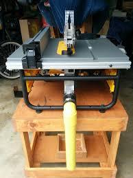 dewalt jobsite table saw accessories custom hand made dewalt table saw dust collector carpentry